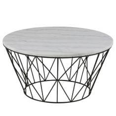 Design Scandinavia Konferenčný stolík s mramorovou doskou Gone, 80 cm