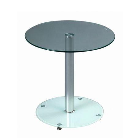 Artenat Konferenční / odkládací stolek Anna, 50 cm, čirá/bílá