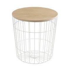 Design Scandinavia Konferenčný stolík Pavola, 39 cm, biela