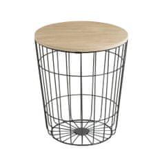 Design Scandinavia Konferenčný stolík Pavola, 34 cm, čierna