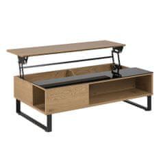 Design Scandinavia Konferenčný stolík Rosemary, 110 cm, dub/čierna