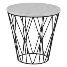 Design Scandinavia Konferenčný / nočný stolík s mramorovou doskou Gone, 50 cm
