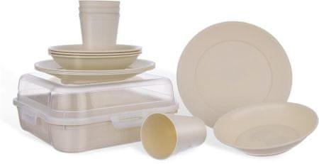 Orion Jídelní sada plastového nádobí na piknik, 13 ks