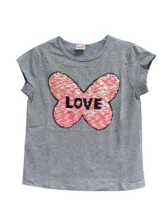 Topo dekliška majica, 110, siva