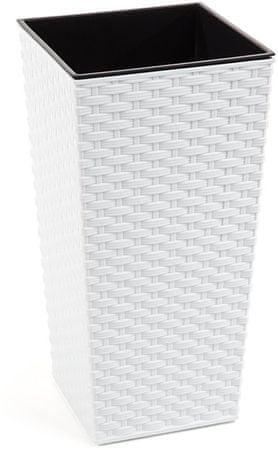 NOHEL GARDEN Obal na kvetináč Finezia Rattan 57 cm biela