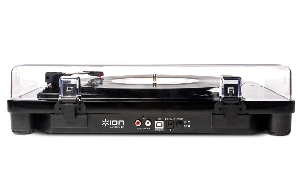 Gramofon iON Classic LP usb vstup digitalizace externí reproduktory