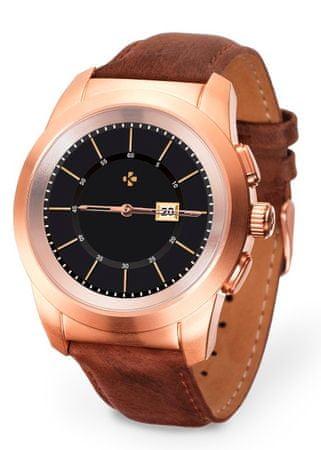 MyKronoz ZeTime Premium Brushed pink gold-Brown vintage leather - 39 mm
