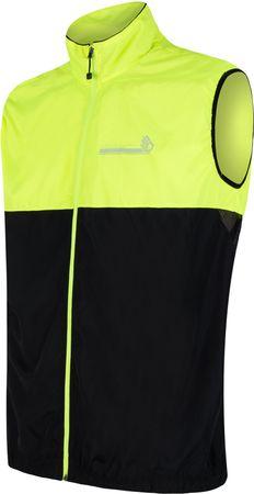Sensor moški brezrokavnik Neon, črno rumen, XL