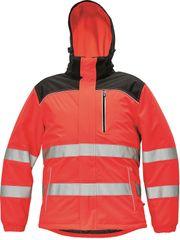 Cerva Zimná reflexná bunda Knoxfield Hi-Vis červená XS