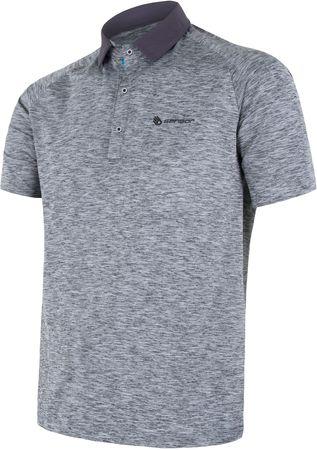 Sensor koszulka polo męska Motion szara XL