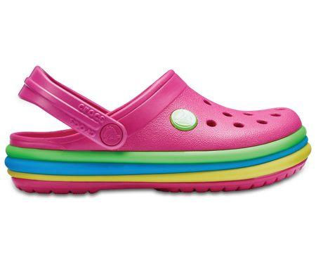 Crocs CB Rainbow Band Clog K Paradise Pink 24.5