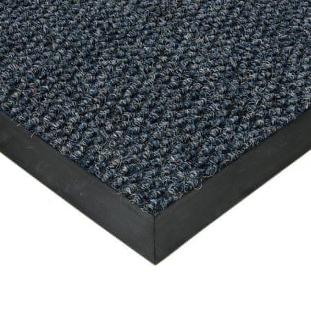 FLOMAT Modrá textilní zátěžová vstupní čistící rohož Fiona - 110 x 160 x 1,1 cm