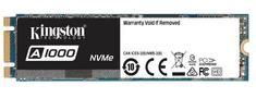 Kingston SSD disk A1000 960 GB, M.2, PCIe NVMe 3.0 x2