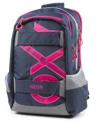 Karton P+P OXY SPORT Blue line Pink anatómiai hátizsák