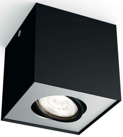 PHILIPS BOX LED állítható 1 izzós spot lámpa, fekete