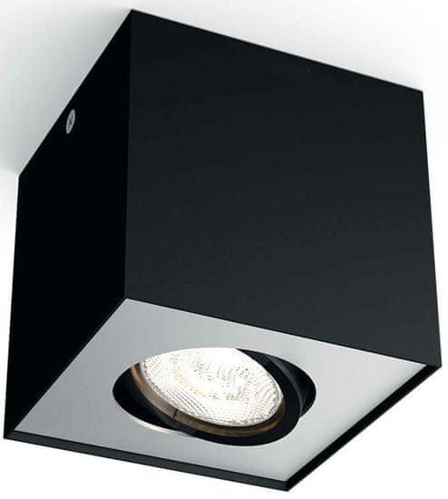 Philips Nastavitelné bodové svítidlo BOX LED, 1 žárovka černá