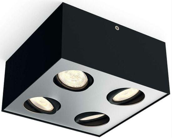 Philips Nastavitelné bodové svítidlo BOX LED, 4 žárovky černá