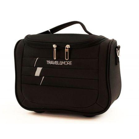 Travel and More kozmetični kovček PRAGUE ULTRALIGHT, 11 l, črn