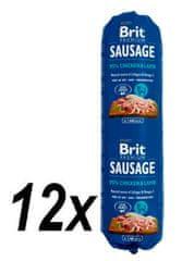 Brit Sausage Chicken & Lamb 12 x 800 g