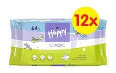 Bella Happy Classic čistiace obrúsky 64 ks x 12