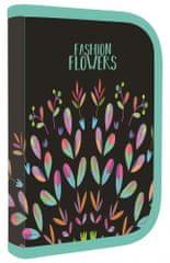 Karton P+P piórnik szkolny 1-poziomowy Fashion kwiaty - wyposażony