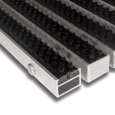 FLOMAT Černá hliníková kartáčová venkovní vstupní rohož Alu Super, FLOMAT - 2,7 cm