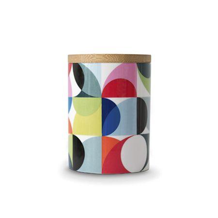 REMEMBER® Porcelánová dóza s bambusovým víkem Solena, 0,275 l