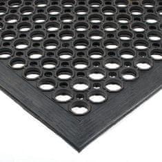 Gumová olejivzdorná protiskluzová protiúnavová průmyslová modulární rohož - 150 cm, 90 cm a 1,25 cm