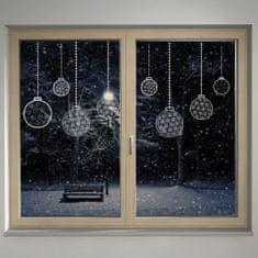 Housedecor Samolepka na sklo Vánoční koule