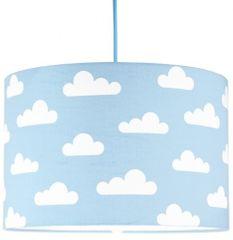 Djeco Dětská závěsná lampa s obláčky, modrá