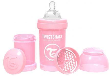 Twistshake Cumisüveg Anti-Colic 180ml, Pasztell rózsaszín