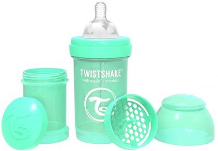 Twistshake butelka dla niemowląt Anti-Colic 180 ml, pastelowa zieleń