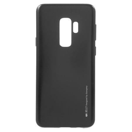 Goospery tanek silikonski ovitek i-Jelly Metal za Samsung Galaxy S9 G960, črn