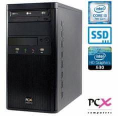 PCX namizni računalnik Exam F2023 i3-7100/4GB/SSD120GB/FreeDOS (PCX EXAM F2023)