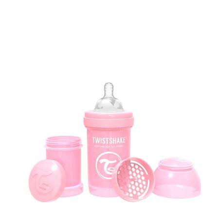 Twistshake Steklenička Anti-Colic 260ml, Pastelno roza