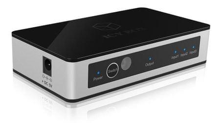 IcyBox 3 v 1 HDMI preklopnik z daljincem IB-SW3011