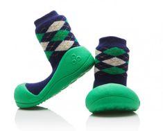 Attipas Chlapecké botičky Argyle - zeleno-modré
