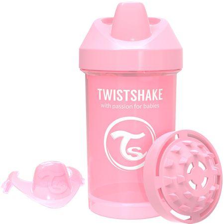 Twistshake Cumisüveg 300ml 8+m, Pasztell rózsaszín