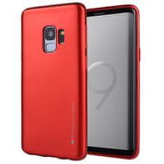 Goospery tanek silikonski ovitek i-Jelly Metal za Samsung Galaxy S9 Plus G965, rdeč