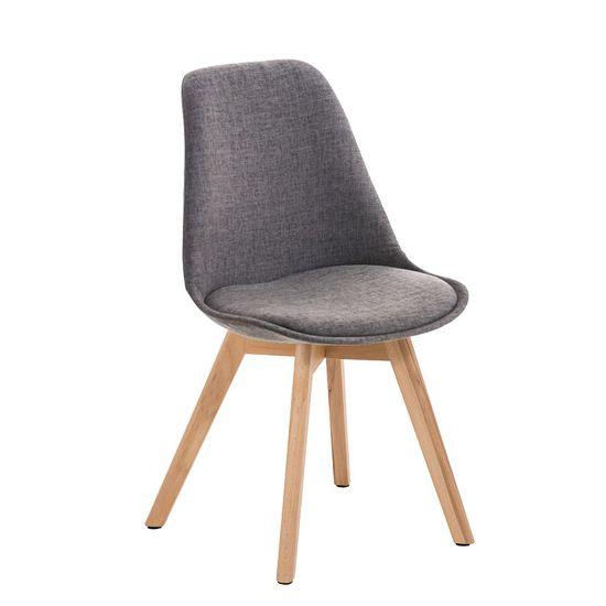 BHM Germany Konferenční / jídelní židle Lenora textil (SET 2 ks), šedá
