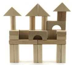 Teddies Kostky dřevěné přírodní 50 ks