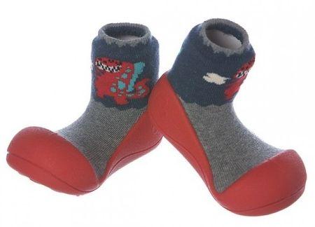 Attipas Kisfiú cipő Dinosaur Red 19 piros-szürke