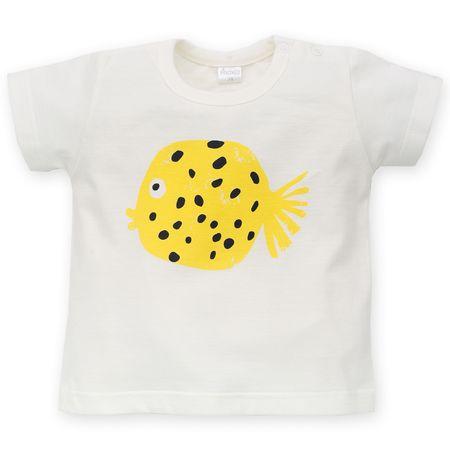 PINOKIO Chlapecké tričko Little Fish 74 bílá