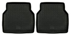 POLGUM Gumové koberce, zadné, 2 ks, čierne, rozmer: 47,5 x 46 cm, pre vozidlá typu Audi, Citroen, Fiat, Opel, Peugeot, Renault, VW a ďalšie