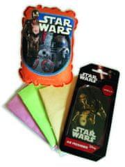 KAJA Darčekový set, súprava do auta, 5 ks, motív Star Wars, špongia Droid, vôňa Vanilka