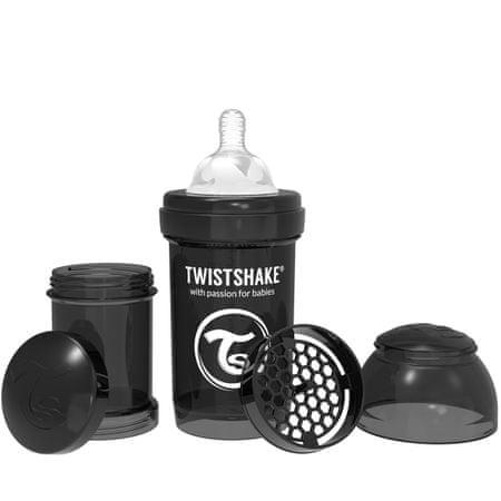 Twistshake Cumisüveg Anti-Colic 180ml, Fekete