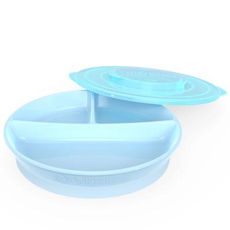 Twistshake Osztott tányér 6+m, Pasztell kék