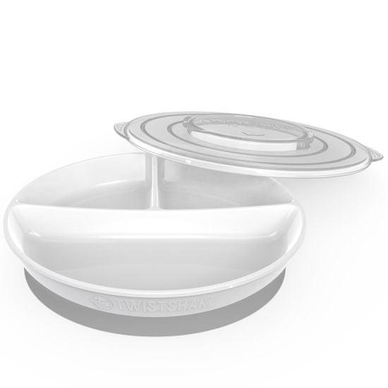 Twistshake Dělený talíř 6+m, Bílá