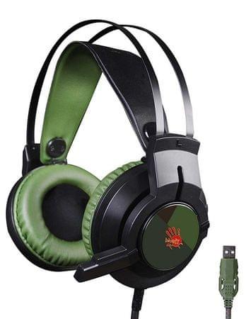 A4Tech J437 Gamer Headset (J437 zöld)