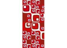 Dimex Dekoračný pás - Červené štvorce 95 x 210 cm
